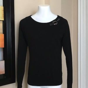 Lauren Black Sweater Size Medium